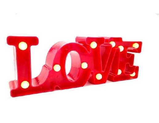 LOVE YAZI LED IŞIKLI PİLLİ 30 CM