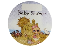 STİCKER BEBEK TATİLDE BABY SHOWER PEMBE
