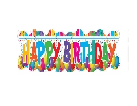 MULTICOLOUR HAPPY BIRTHDAY BANNER