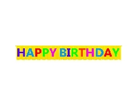 HAPPY BIRTH.BANNER FRINGED MULTICOLOURPK:1